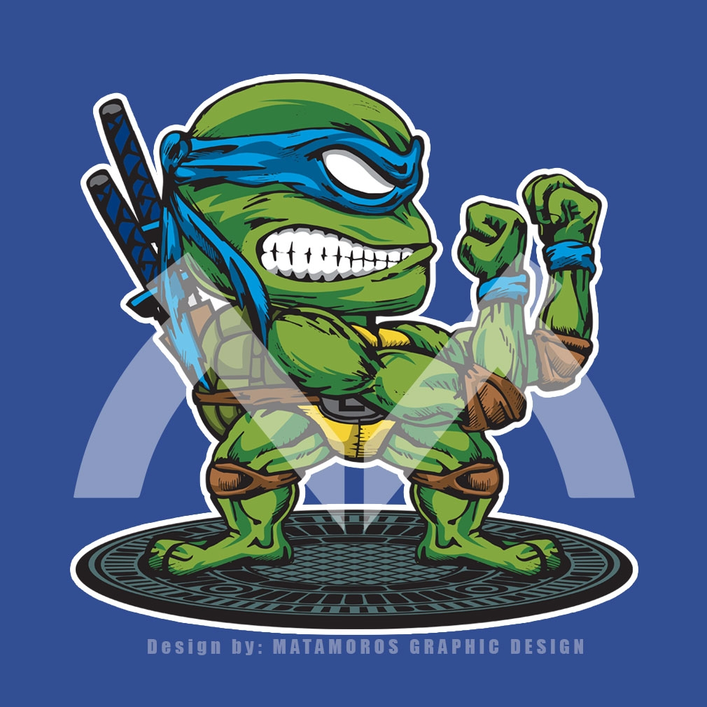 TeeTournament: FIGHTING TURTLE LEONARDO