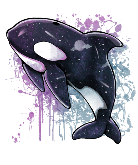 Qwertee: Orca Galaxy