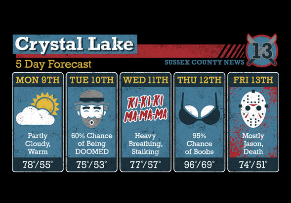 teeVillain: Crystal Lake Forecast
