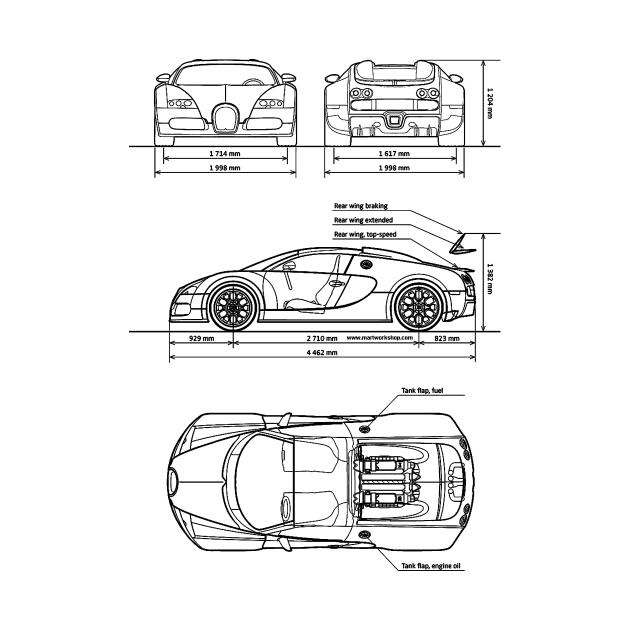TeePublic: Bugatti Veyron  Blueprint