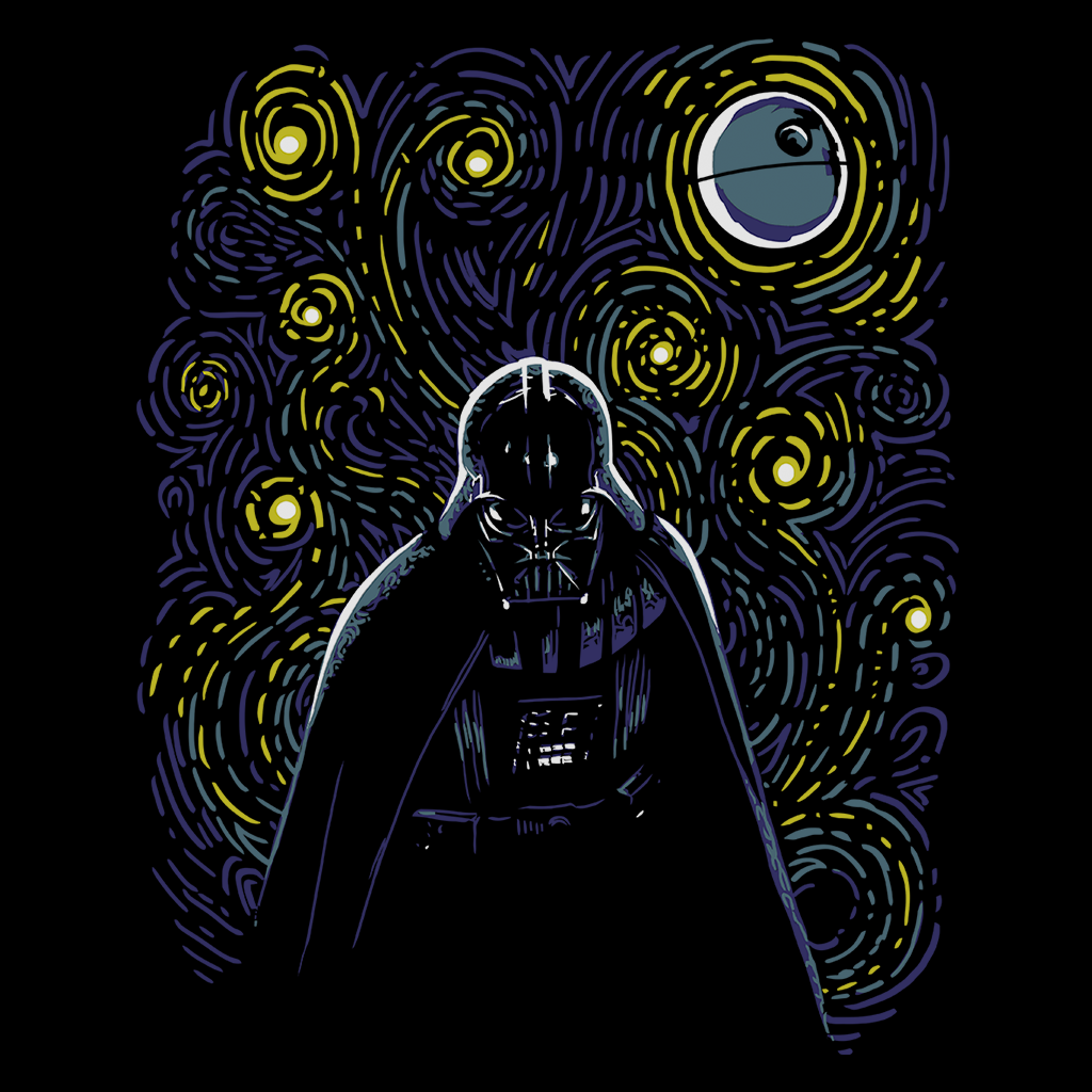 Pop-Up Tee: Starry Dark Side