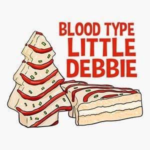 BustedTees: Blood Type Little Debbie Raglan