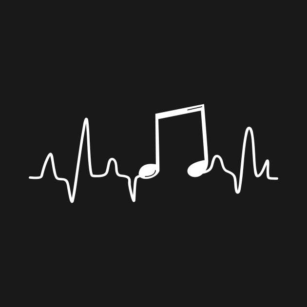 TeePublic: Music Note Heartbeat   Music Lover and Musicians
