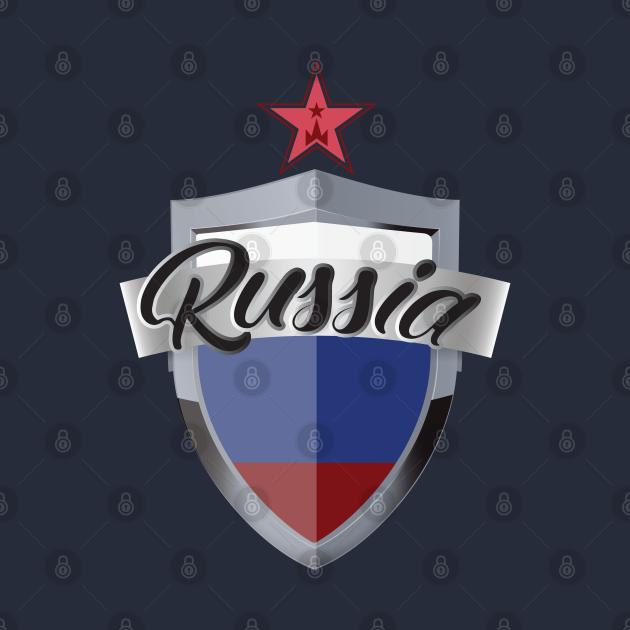 TeePublic: Russia Shield