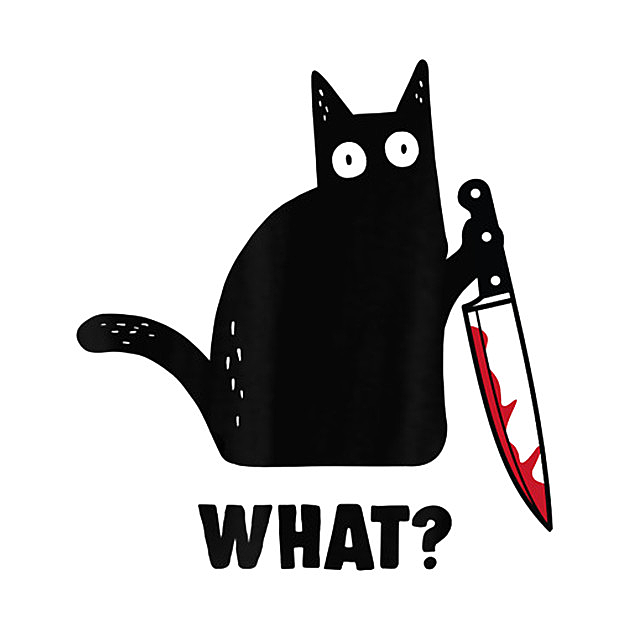 TeePublic: Black cat and knife what shirt