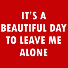 Textual Tees: It's A Beautiful Day To Leave Me Alone