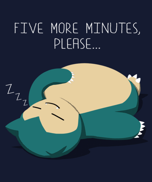 Qwertee: Five more minutes, please