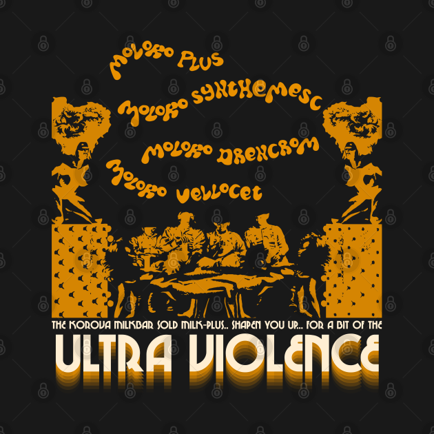 TeePublic: The Korova Milkbar / A Clockwork Orange FanArt