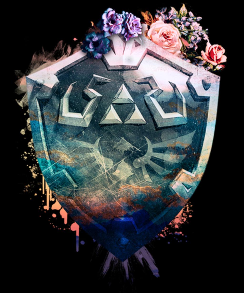 Qwertee: Floral Shield