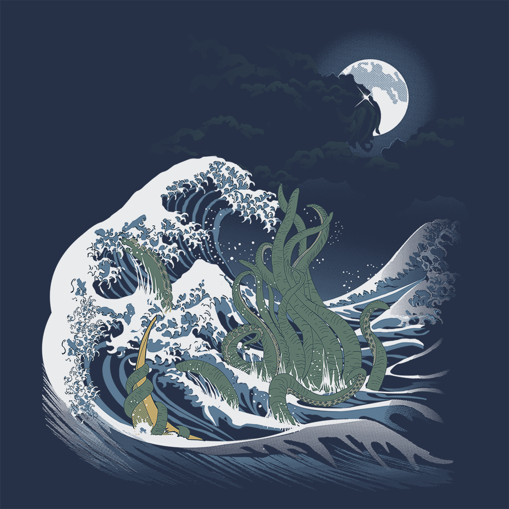 Pop-Up Tee: Wave Of R'lyeh