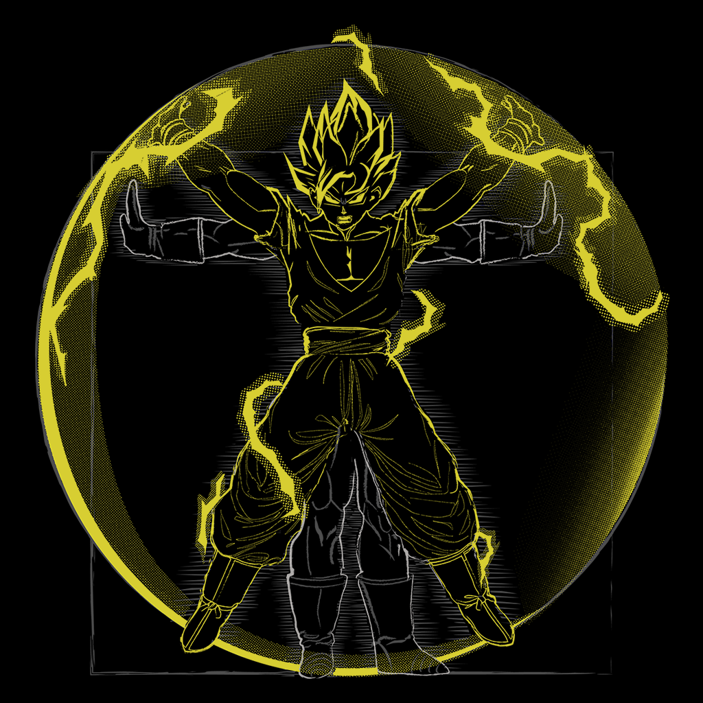 Pop-Up Tee: 1.2 Vitruvian Fire Saiyan Goku