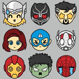 TeeTurtle: Avengers Emojis