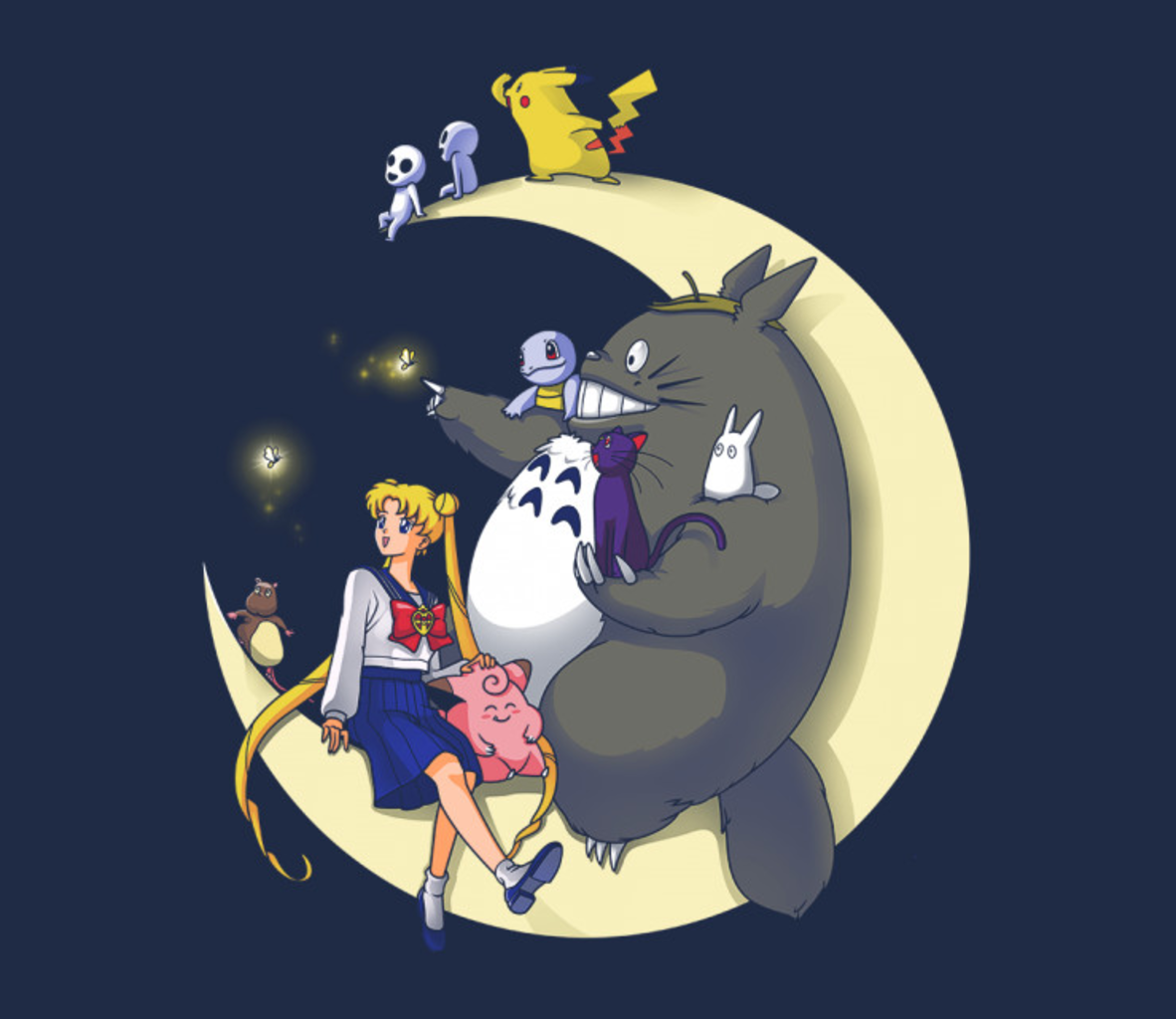 TeeFury: Moonlight Buddies