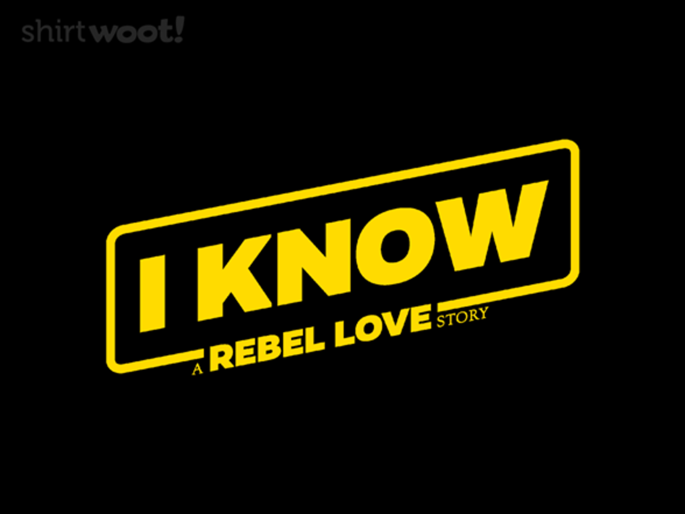 Woot!: I Know - $15.00 + Free shipping