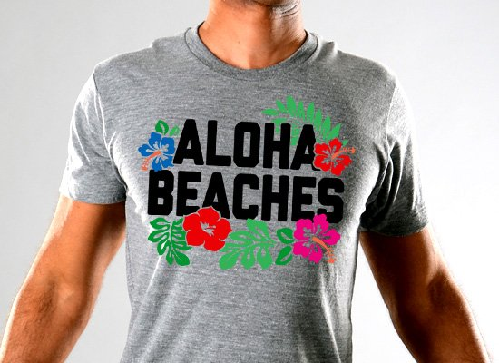 SnorgTees: Aloha Beaches Limited Edition Tri-Blend