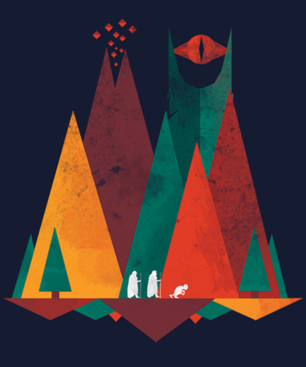 Qwertee: Geometric Middle Earth