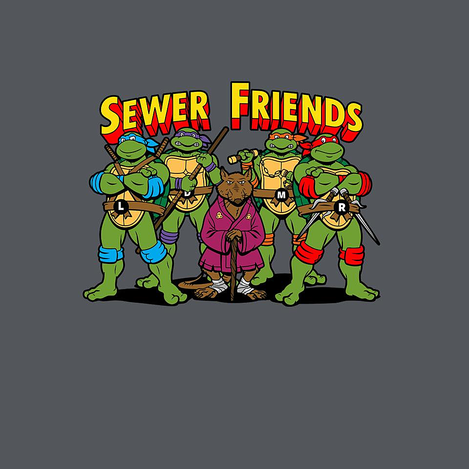 TeeFury: Sewer Friends