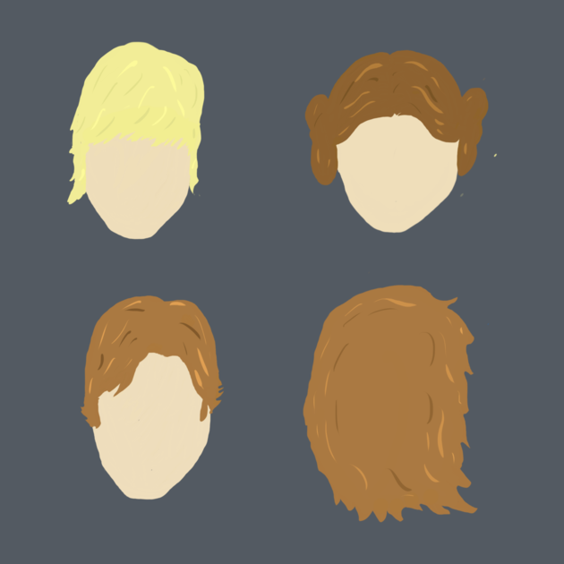 TeePublic: Star Wars A New Hope: It's All About the Hair