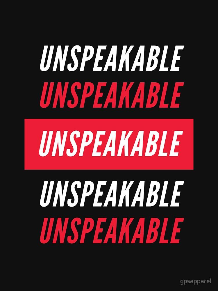 RedBubble: Unspeakable