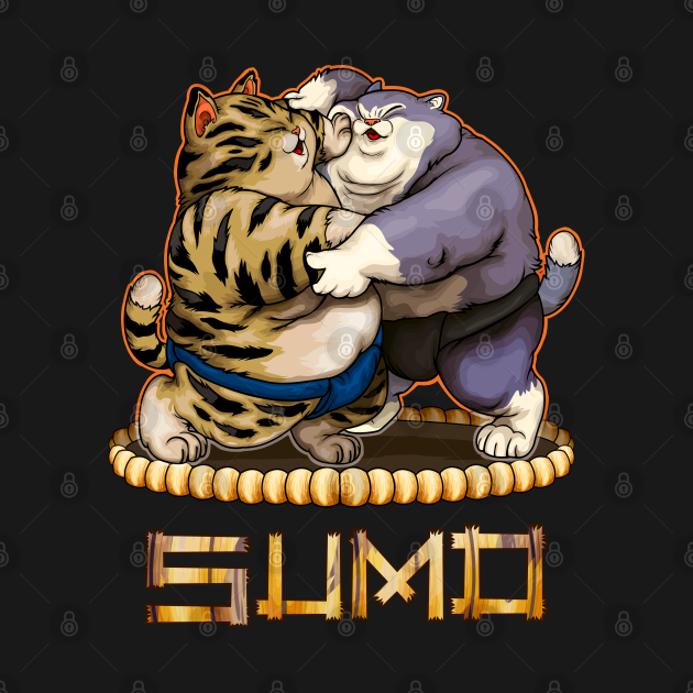 TeePublic: Cats Sumo Wrestling