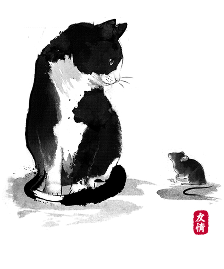 Qwertee: The cat and the little mouse