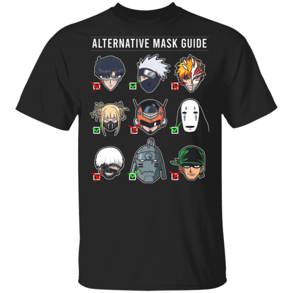 Pop-Up Tee: Anime Mask Guide