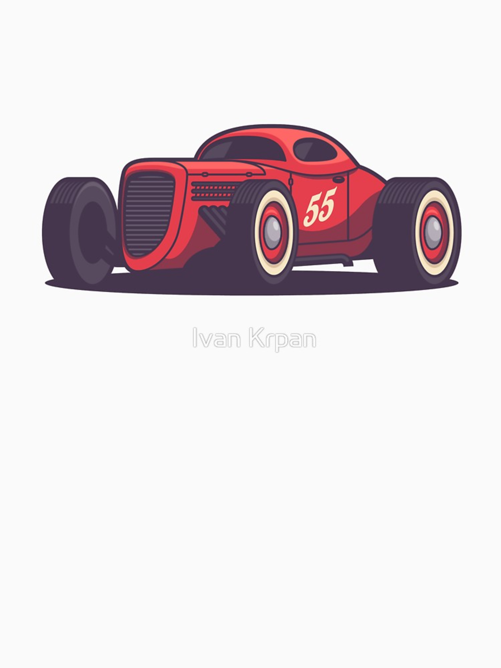 RedBubble: Vintage Hot Rod Classic Street Racer - Red