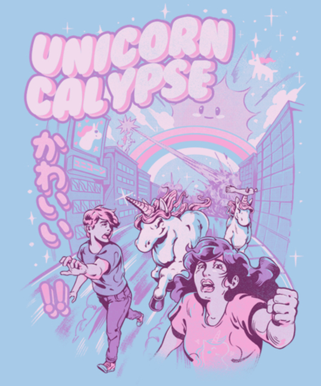 Qwertee: Unicorn-Calypse