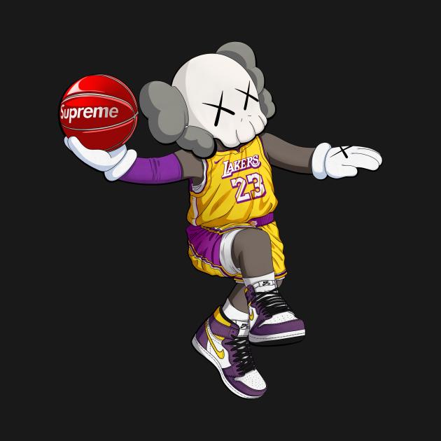 TeePublic: NBA X kaws