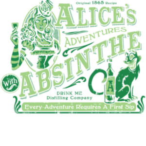 teeVillain: Alice's Adventures with Absinthe