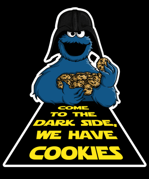 Qwertee: Dark Cookies