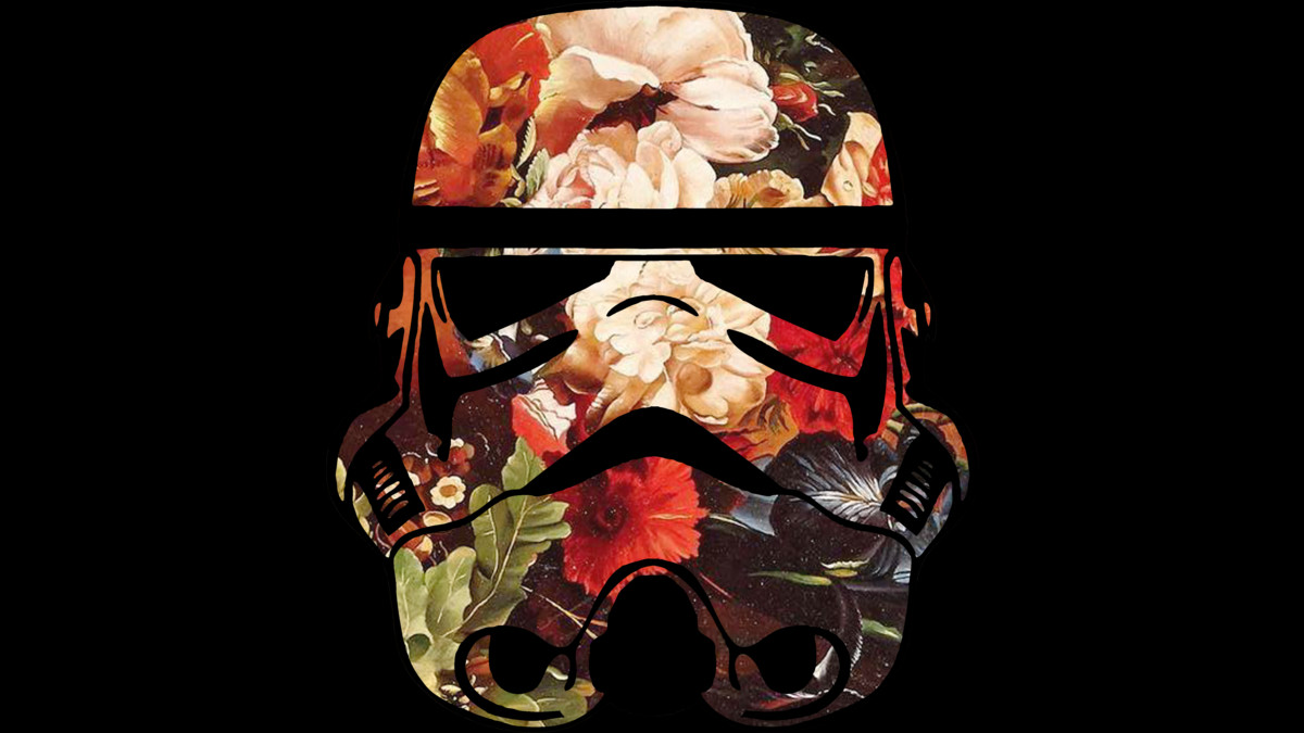 Design by Humans: Floral Print Stormtrooper