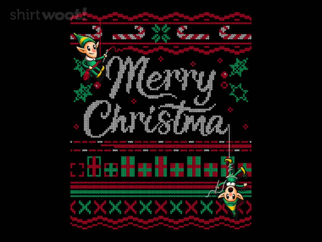 Woot!: Ugly Holiday Sweater Tee: 2018
