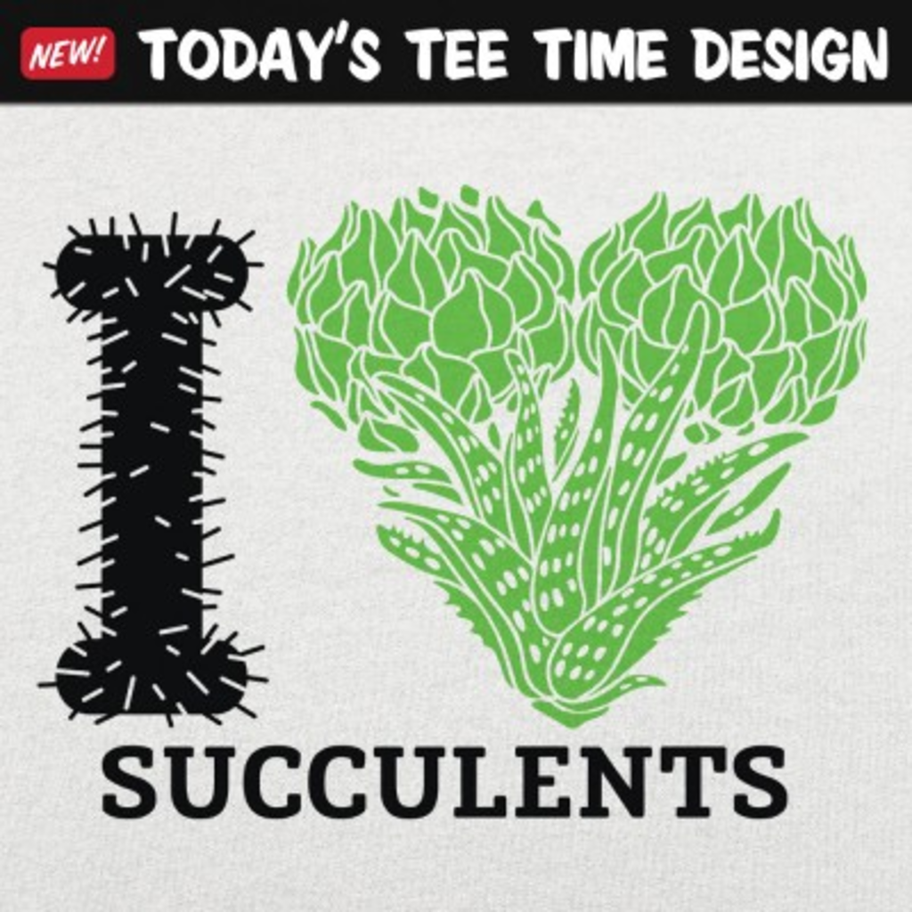 6 Dollar Shirts: I Love Succulents