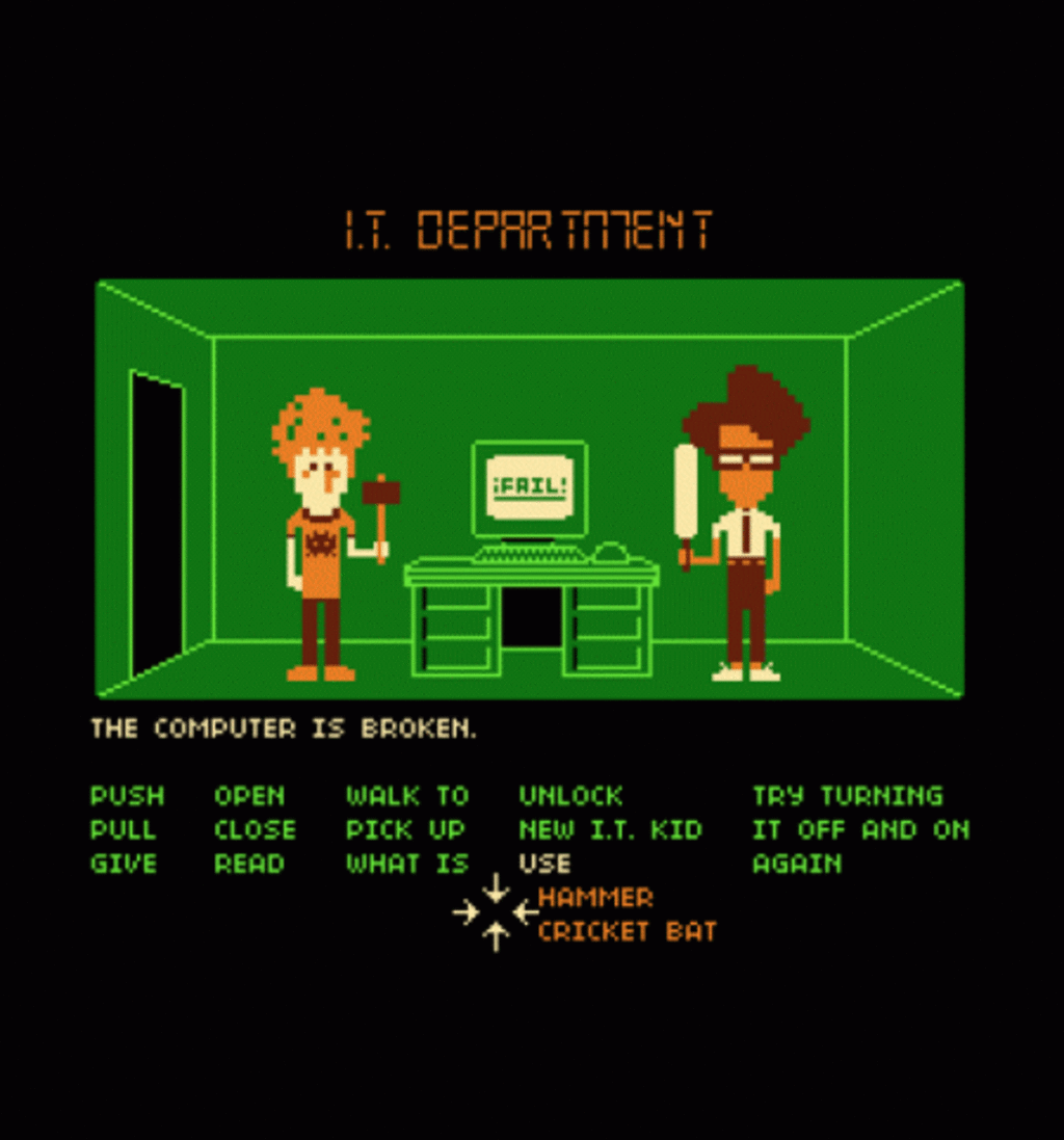BustedTees: Maniac IT Department