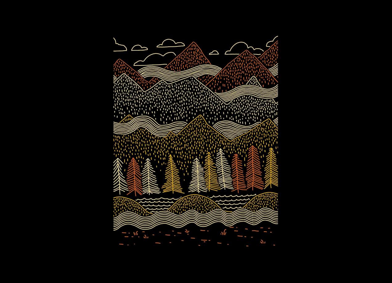 Threadless: Misty Mountains