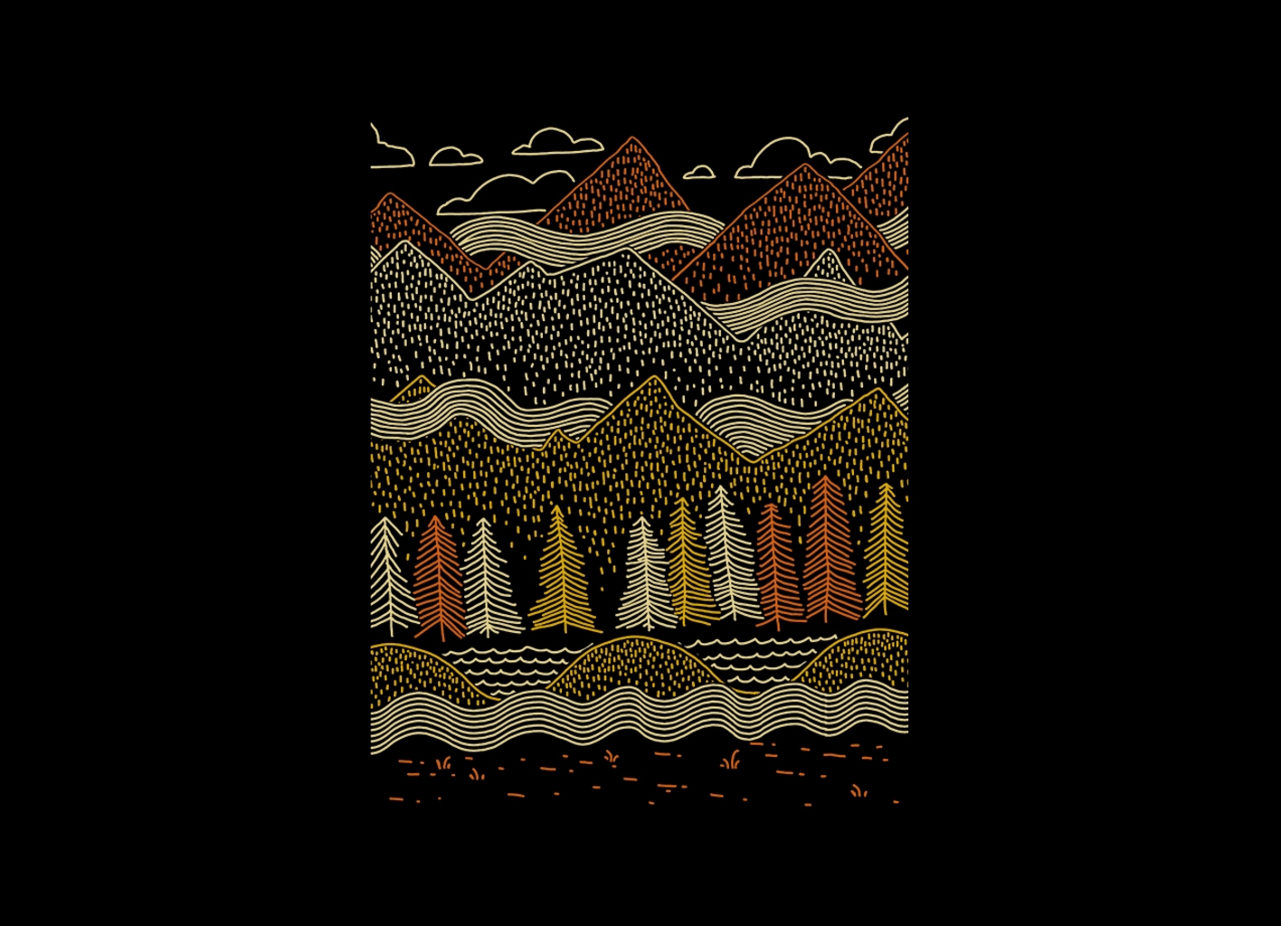 Threadless: Misty Mountains