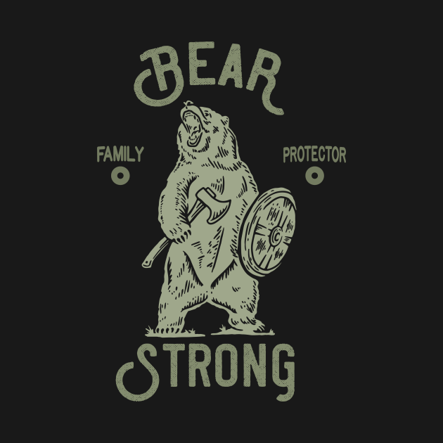 TeePublic: Bear Strong Papa