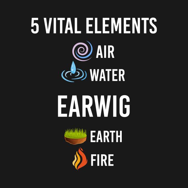 TeePublic: 5 Elements Earwig