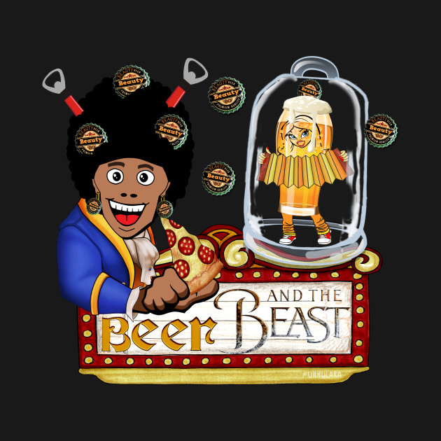TeePublic: Beer and The Beast