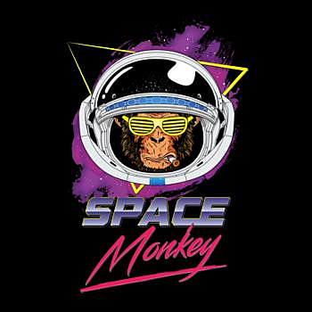BustedTees: Space monkey