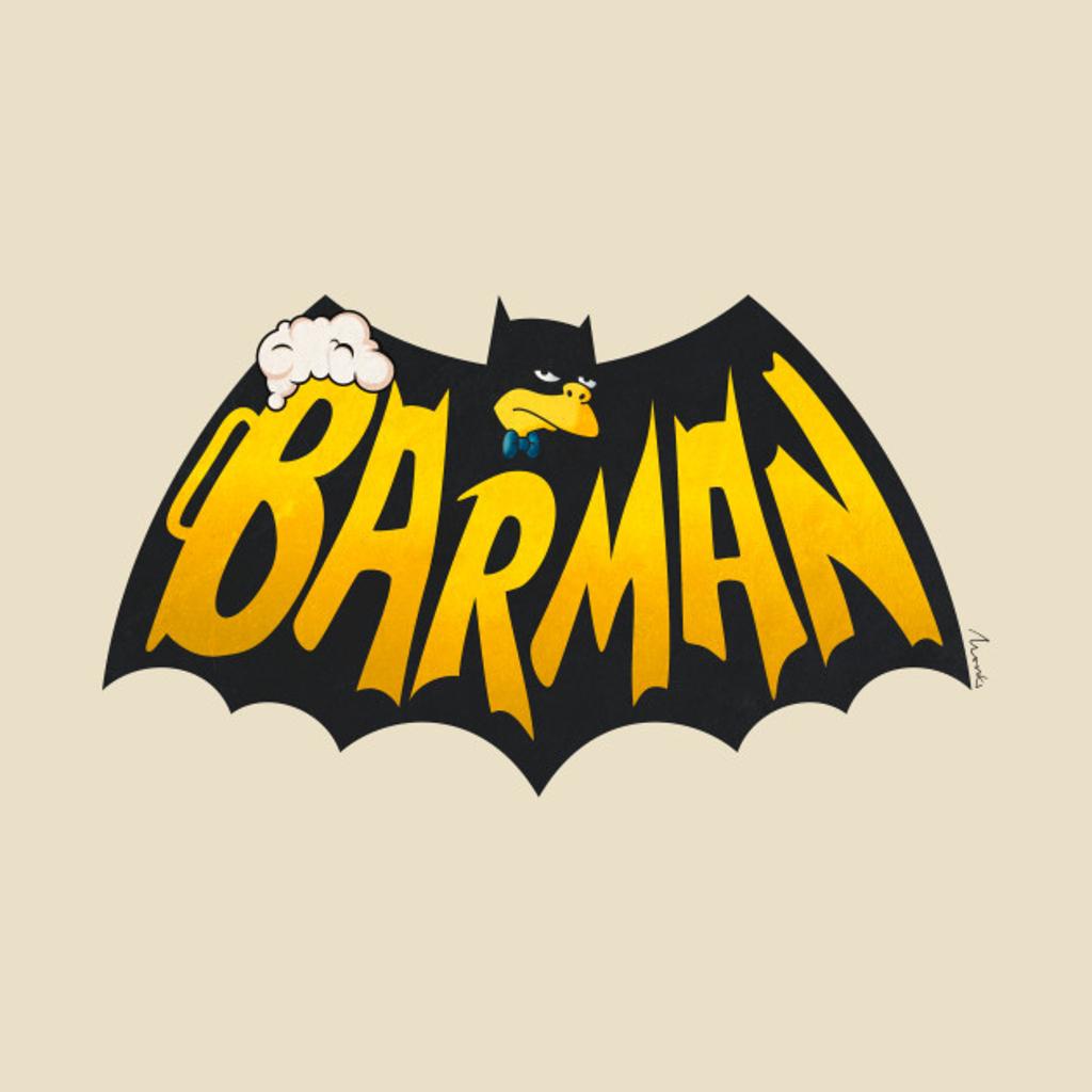 TeePublic: Barman logo