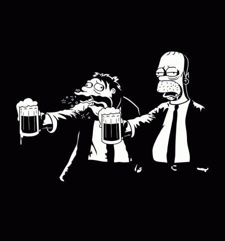 BustedTees: Pulp Simpson