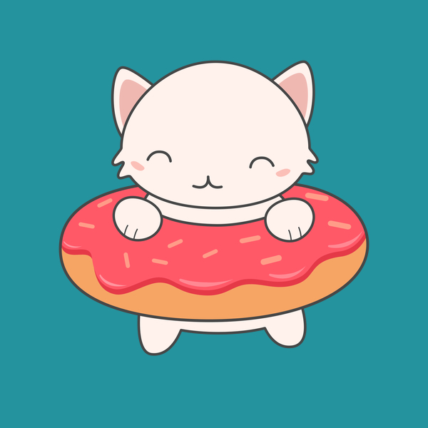 NeatoShop: Lovely Kawaii Donut Cat