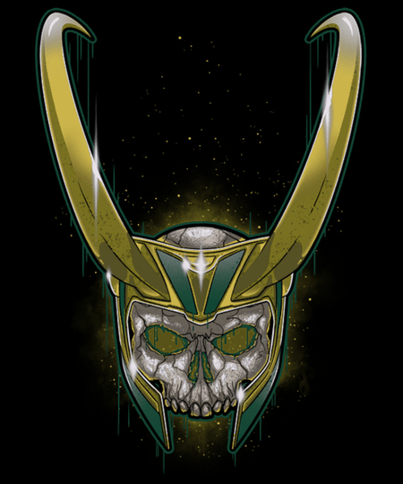 Qwertee: Loki Skull