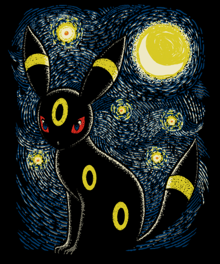 Qwertee: Moonlight Night