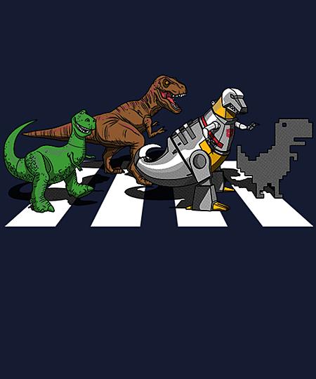 Qwertee: Dino Crossing