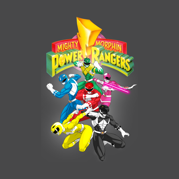 TeePublic: Mighty Morphin Power Rangers