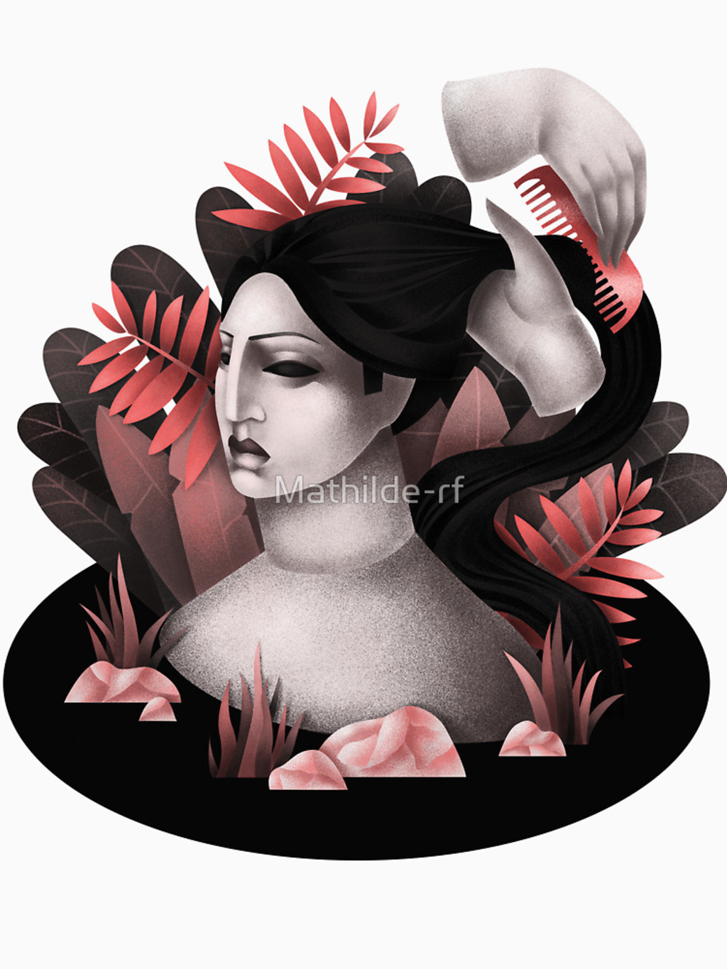 RedBubble: Woman in her bath