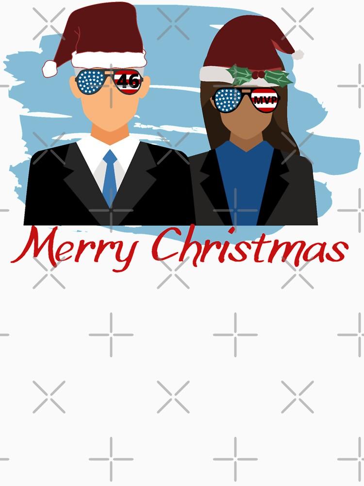 RedBubble: Merry Christmas- Christmas Biden Harris